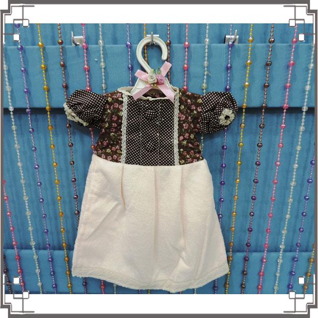 ↙特價↘小洋裝擦手巾《Q3-3》鄉村小花洋裝造型擦手巾 鄉村風擦手巾 含衣架◤彩虹森林◥