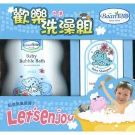 Baan 貝恩 - 泡泡香浴露1000ml+嬰兒洗髮精200ml 歡樂洗澡組