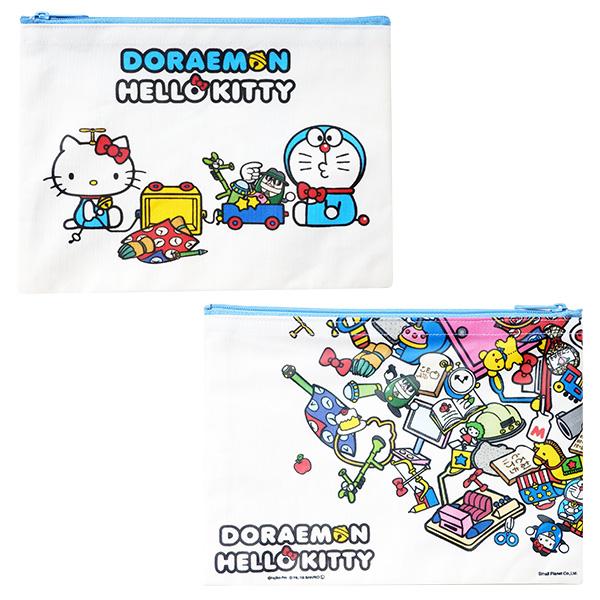 【蜜多麗夢想本舖】日本 三麗鷗 Kitty x 哆啦A夢 聯名 化粧包 手拿包 收納包