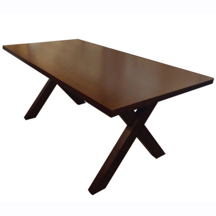 【尚品傢俱】799-06 布雷斯特 6尺胡桃色餐桌/居家全實木長桌/家庭聚會桌/溫馨團圓桌/餐廳桌/宴會桌/飯桌