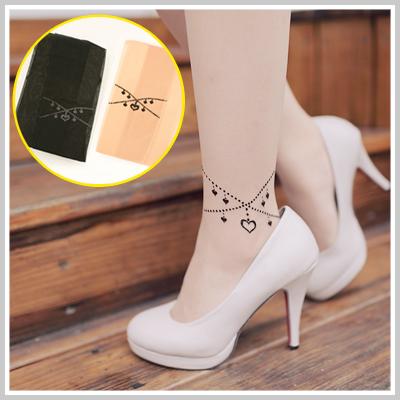 ☆雙兒網☆ 【AP752】Vivi日雜款氣質愛心腳鍊刺青感透膚絲襪