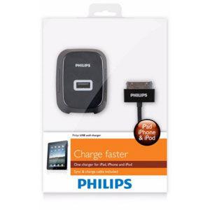 {光華新天地創意電子}PHILIPS 飛利浦 DLP2232 USB旅行用高效能充電器2.1A+iPhone 喔!看呢來