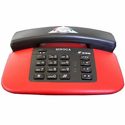 【純米小舖】欣凱SINOCA雙外線有線電話機ST-221-紅色