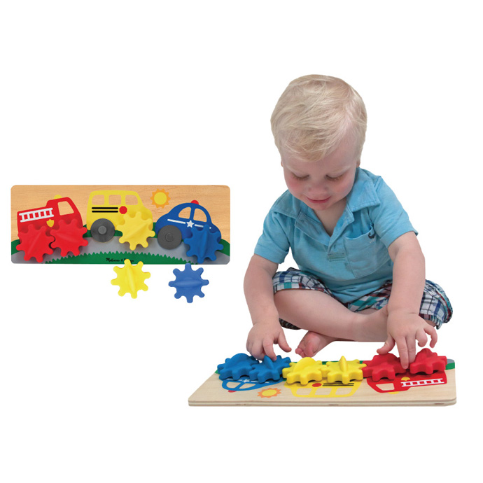 【華森葳兒童教玩具】益智邏輯系列-車車齒輪遊戲 N7-3043