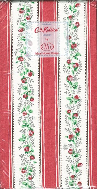 Cath Kidston - 玫瑰條紋(紅)-德國 IHR 紙手帕