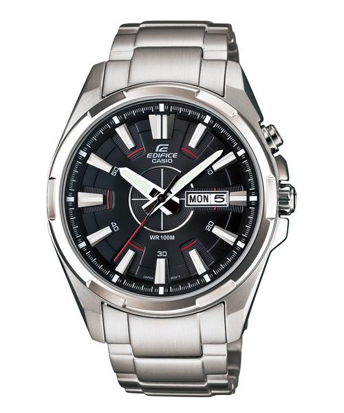 CASIO EDIFICE EFR-102D-1A流行運動腕錶/黑面43.6mm