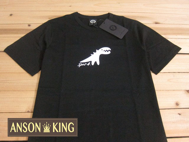 [Anson king]outlet國外代購 agnes b.sport b 白色小恐龍 短袖 圓領 男款 T恤 黑
