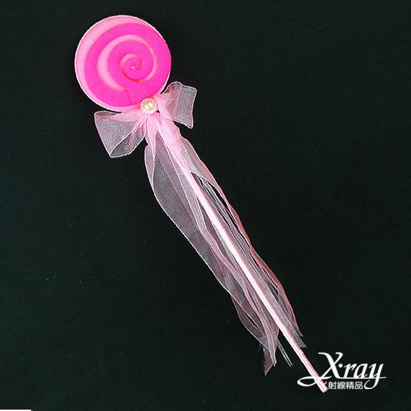 X射線【W417900】絲帶棒棒糖仙女棒-粉,萬聖節/派對用品/尾牙表演/舞會道具