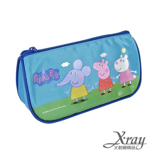 X射線【C498397】粉紅豬小妹造型閃亮筆袋-藍.粉紅(2選1),收納/削筆機/筆袋/開學必備/置物盒/收納盒