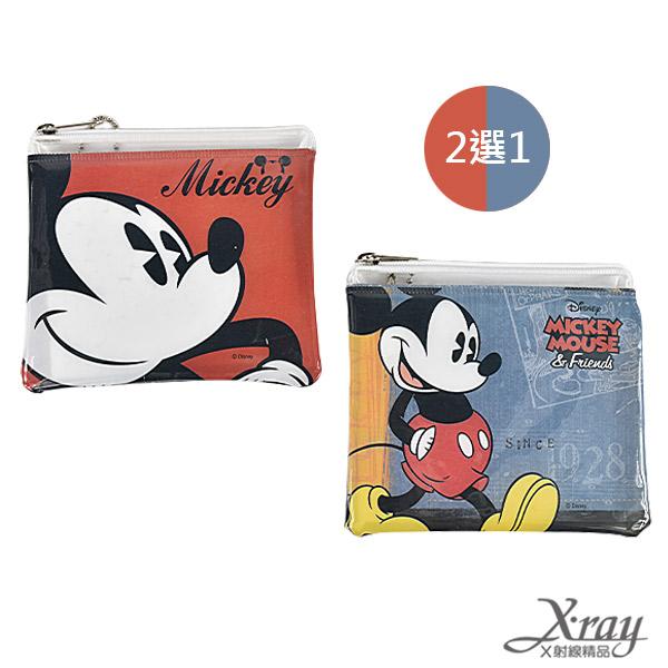 X射線【C848841】米奇拉鏈袋(兩款二選一,紅,藍),鉛筆盒/萬用包/零錢包/開學必備