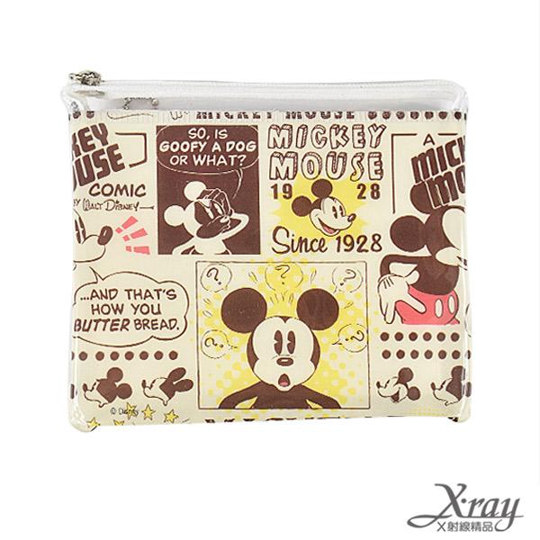 X射線【C849725】古典米奇拉鏈袋,鉛筆盒/萬用包/零錢包/開學必備