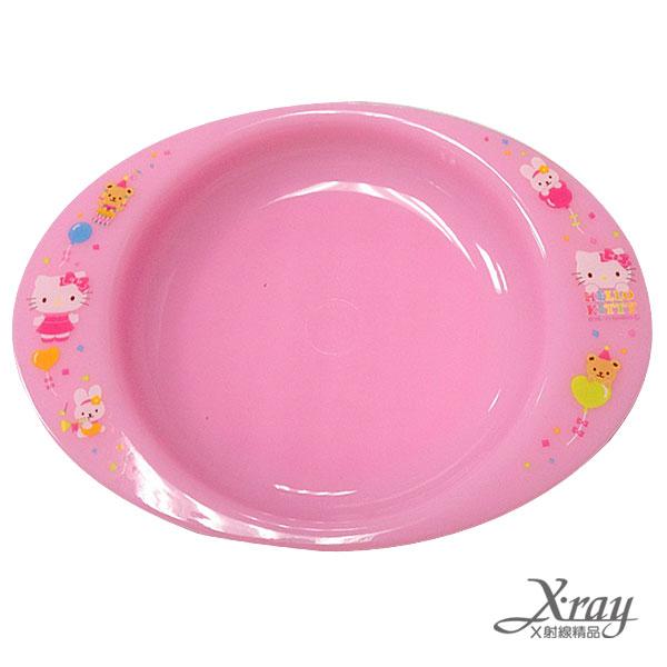 X射線【C101508】HelloKitty塑膠餐盤,盤子/餐盤/點心盤
