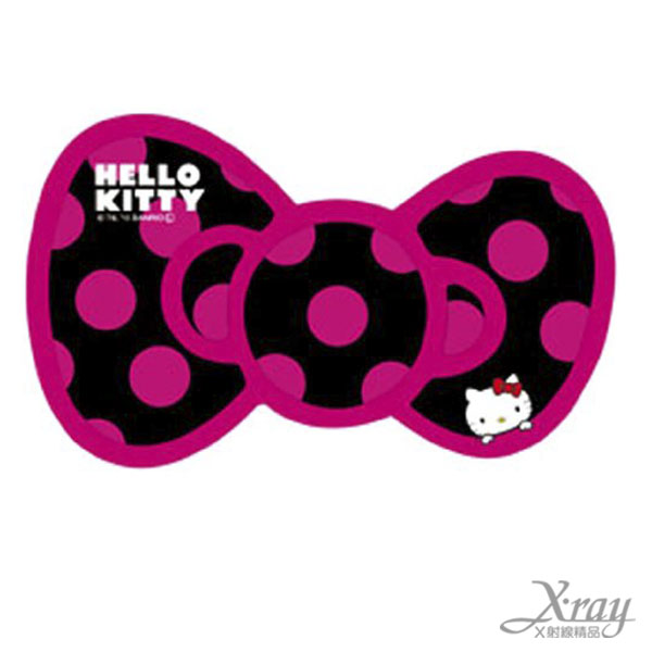 X射線【C864155】Hello Kitty 車用貼紙(桃黑),汽車配件/車用必備