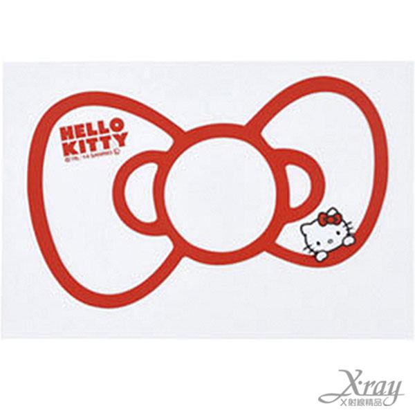 X射線【C864667】Hello Kitty 車用貼紙(紅白),汽車配件/車用必備