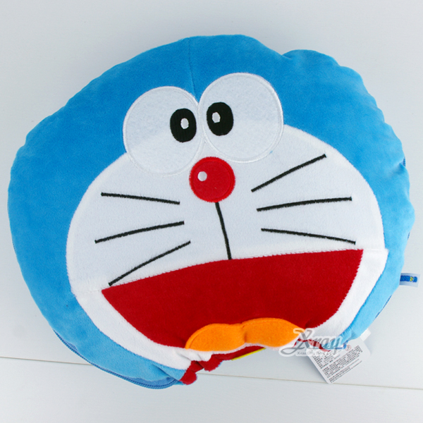 X射線【C020028】哆啦A夢造型棉被抱枕(藍),可當棉被又可收納成抱枕/枕頭/抱枕/靠墊/午睡枕