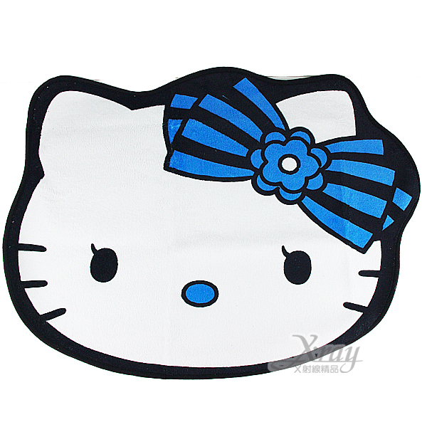 X射線【C006189】Hello Kitty不思議之國80cm腳踏墊(白大臉),防滑地墊/止滑地毯/卡通/地墊/臥室防滑腳墊/可愛/卡通/凱蒂貓/景品