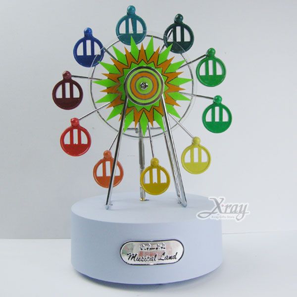X射線【Y00005】迷你摩天輪音樂鈴擺飾(彩色款),情人節/禮物/婚禮小物