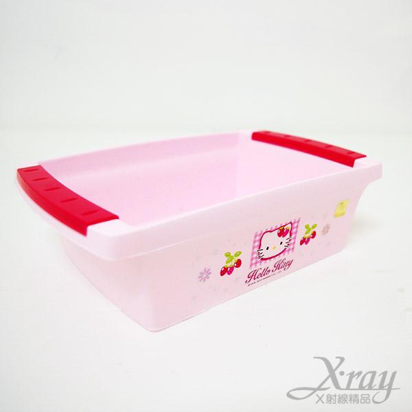 X射線【C130056】Kitty置物盤(粉色.草莓),浴室收納整理置物架.長方盆.雜物盆.韓國製
