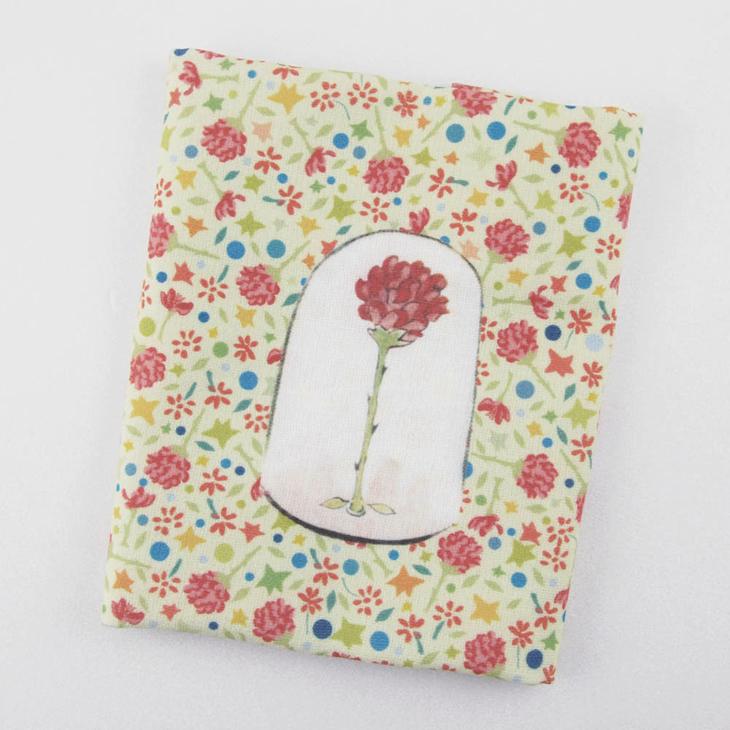 小王子授權系列 - 柔棉/厚棉 小方巾:【 玻璃罩裡的玫瑰花 】
