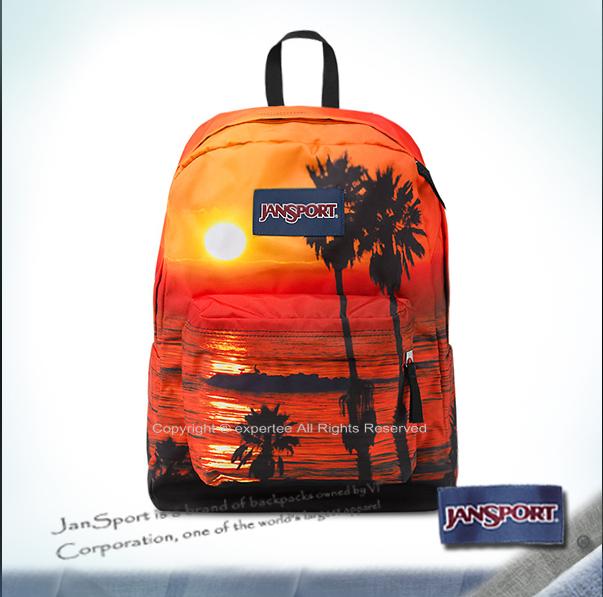 【騷包館】JANSPORT美國專櫃品牌 帆布款後背包 日落海灘 JS-43117J0BV