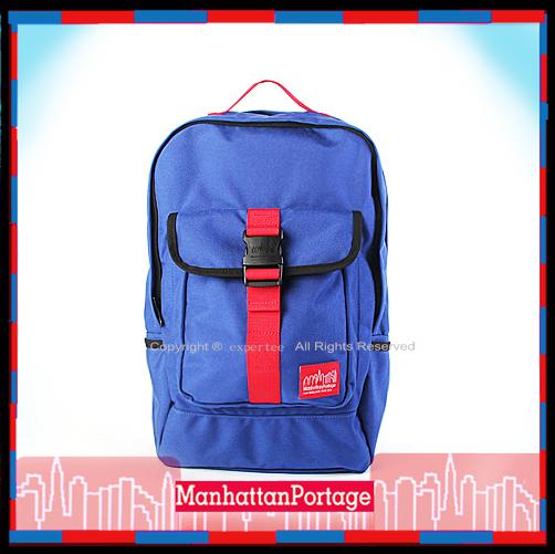 預定【騷包館】曼哈頓 紐約品牌 雙主袋搶眼拉扣後背包 風暴藍 MP1225-RL Manhattan Portage