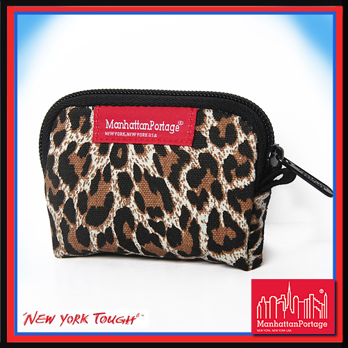 【騷包館】曼哈頓 紐約品牌 光感豹紋 零錢包 MP1008-WD-BI Manhattan Portage