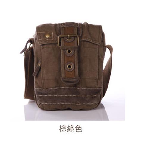 預訂【騷包館】【Beartooth】熊牙 大地風格 天然棉質帆布 牛皮縫製 BT-0361 肯亞 帆布側背包 棕綠