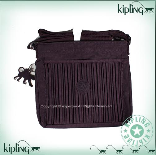 【騷包館】【Kipling】BASIC系列 直立抓皺小包==魅惑深紫 K-375-6614-644