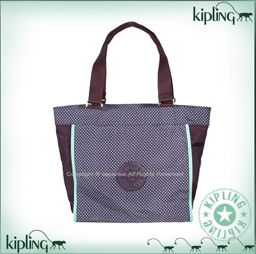 【騷包館】【Kipling】BASIC系列 兩用肩背托特包(大)==紫綠點點 K-375-6641-002