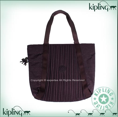 【騷包館】【Kipling】BASIC系列 抓皺線條肩背包==魅惑深紫 K-375-6615-644