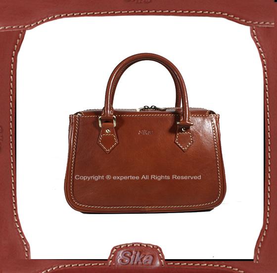 【騷包館】Sika 義大利牛皮 經典三層手提包 咖啡 SK-M6016-01