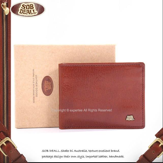 【騷包館】SOB DEALL原皮 基本款超薄男用短夾0053 20401005302