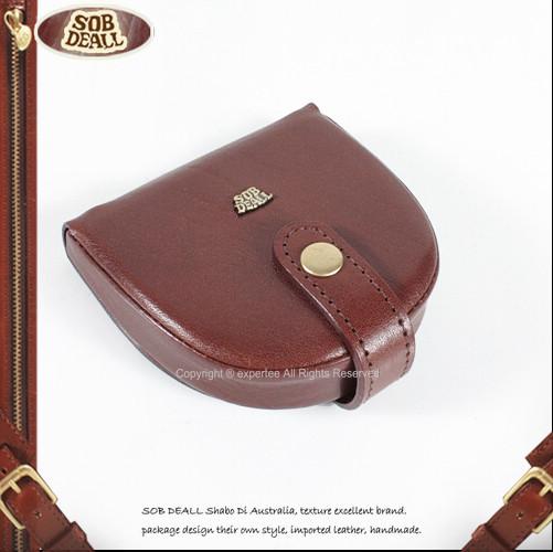 【騷包館】SOB DEALL 經典馬蹄釦式零錢包 咖啡 20501016102