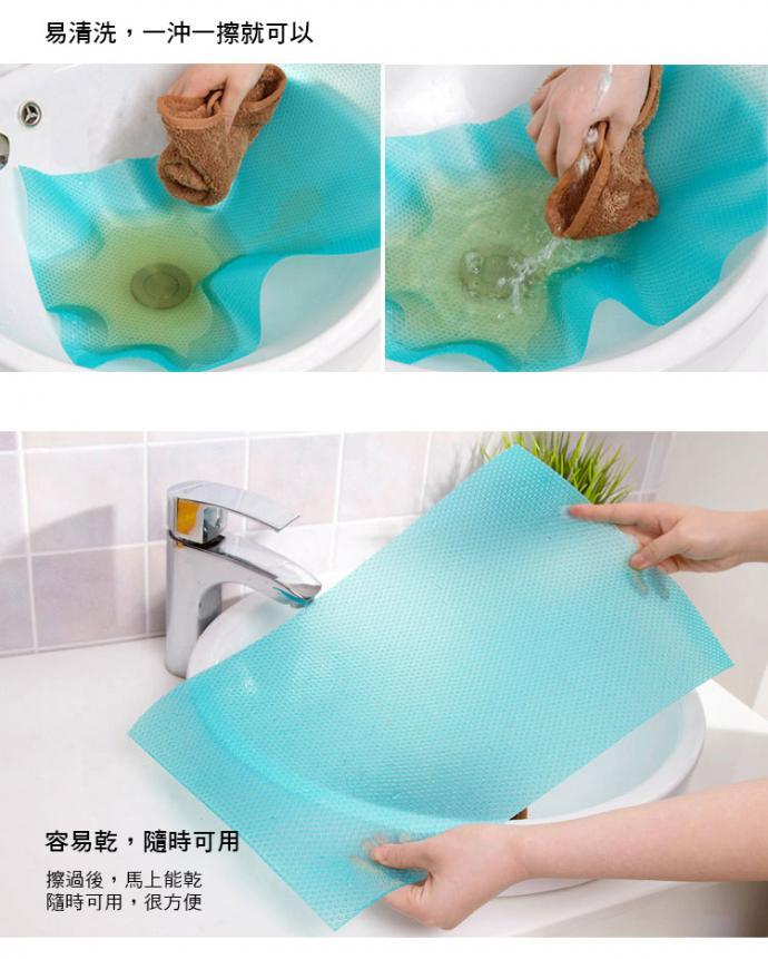 可裁式抗菌防污冰箱墊(一組4入顏色隨機出貨)
