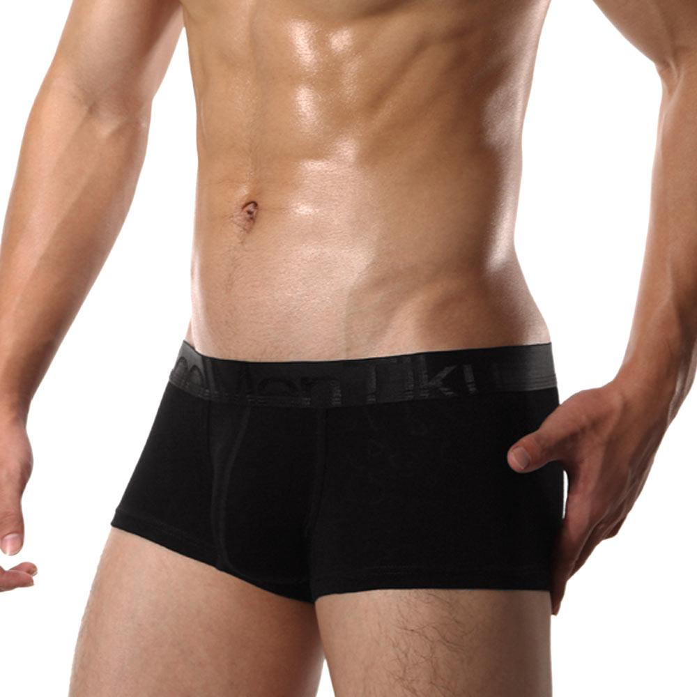 TIKU 梯酷 ~紳士品味 超柔透氣棉質平口男內褲-黑 (BC1232)