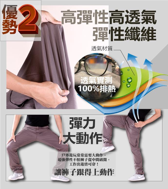 CS衣舖【兩件698】夏日薄款 美式造型 高彈力 超透氣 多口袋 休閒長褲 工作褲 6992
