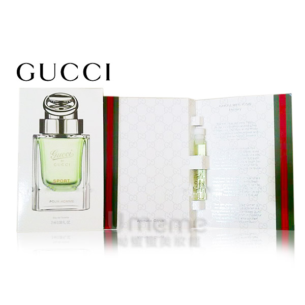 GUCCI by Gucci SPORT pour Homme 運動版 男性淡香水2ml ( 沾式針管)《Umeme》