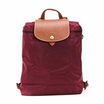 【LONGCHAMP】 LE PLIAGE 酒紅折疊後背包