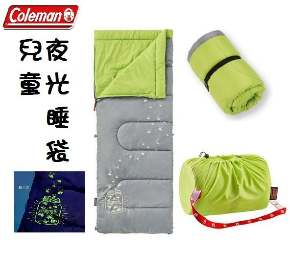 [ Coleman ] 夜光型兒童睡袋 C7 萊姆綠 / 公司貨 CM-22259