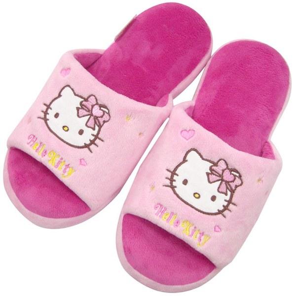 【HELLO KITTY】淺粉紅造型室內拖鞋