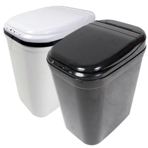 《收納家》超大容量26L 紅外線感應式垃圾桶/酷黑/酷白任選一色