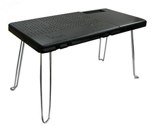 黑色點子王-可折疊電腦桌/餐桌