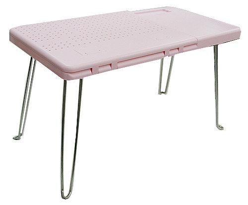 粉紅點子王-可折疊電腦桌/餐桌