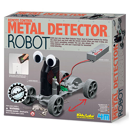 【4M 創意 DIY】Metal Detector Robot 金屬探測機器人