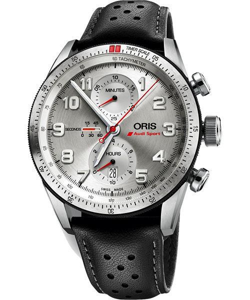 ORIS 豪利時0177476617481-Set Oris Audi Sport限量表鈦合金械腕錶/白面44mm