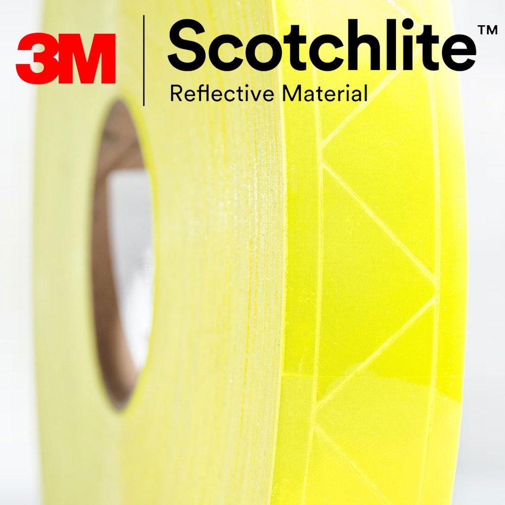 【safetylite安心生活館】《滿899免運、滿千贈禮》3M Scotchlite 6187R 反光晶格帶 反光條 反光材料 5CM寬【黃色反光條、可水洗反光布】適用於衣料