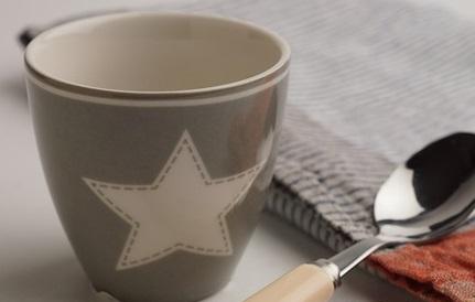 【預購】特價中 GreenGate 拿鐵杯  美式風格~灰底配白五角星