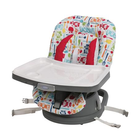 【悅兒樂婦幼用品?】Graco 成長型旋轉餐椅 Swivi Seat? 3-in-1 Booster-小蘋果