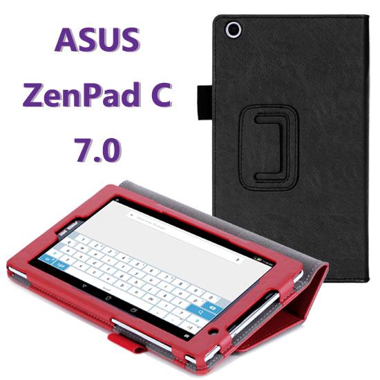 【手托、帶筆插】華碩 ASUS ZenPad C 7.0 Z170C P01Z/Z170CG P01Y 牛皮紋皮套/專用平板保護套/翻頁立架展示斜立