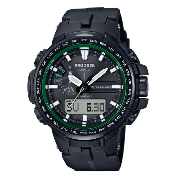 CASIO PROTREK PRW-S6100Y-1旗艦專業登山雙顯電波腕錶/52mm